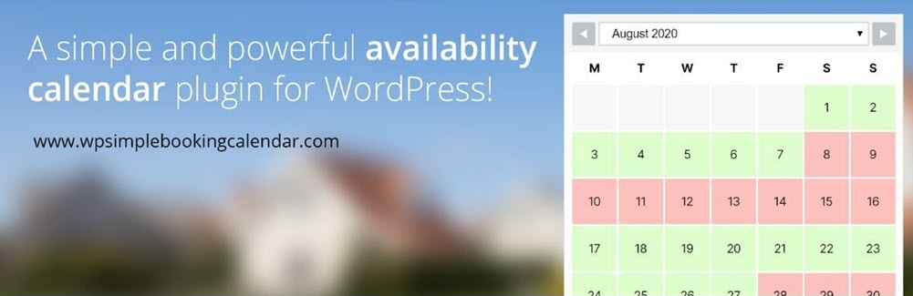 إضافة WP Simple Booking Calendar